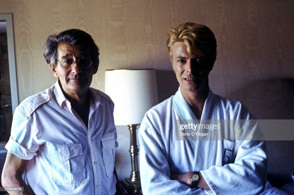 David Bowie (right) with German photographer Helmut Newton (1920 - 2004), Berlin, 1983.