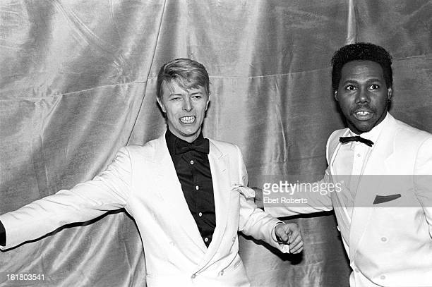 David Bowie with Nile Rodgers of Chic at the Frankie Crocker Awards at the Savoy in New York on 21st January 21 1983