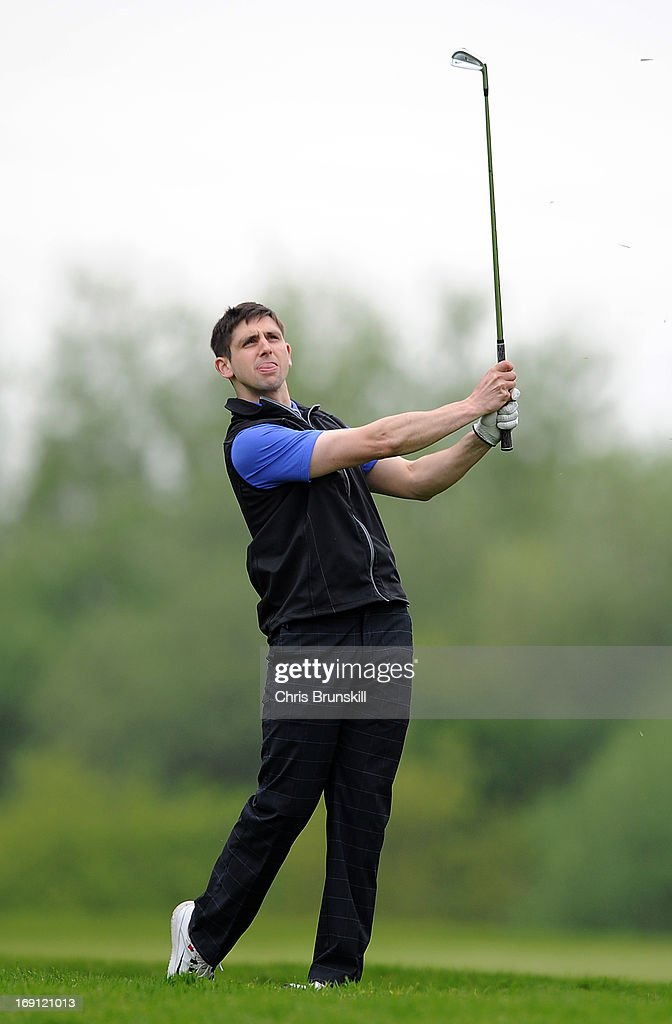 David Bradshaw of Pontefract & District Golf Club in action during the Powerade PGA Assistants' Championship Regional Qualifier at Penwortham Golf Club on May 20, 2013 in Preston, England.