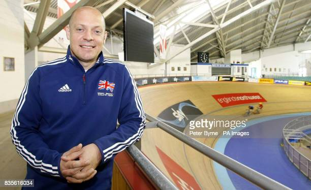 David Brailsford performance director for Team Great Britain during a photocall at Manchester Velodrome Manchester