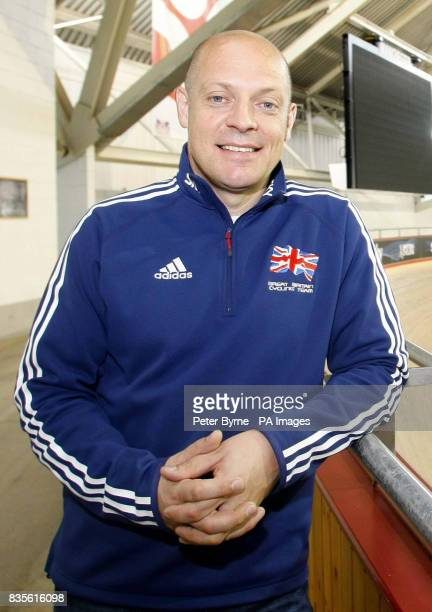 CROP** David Brailsford performance director for Team Great Britain during a photocall at Manchester Velodrome Manchester