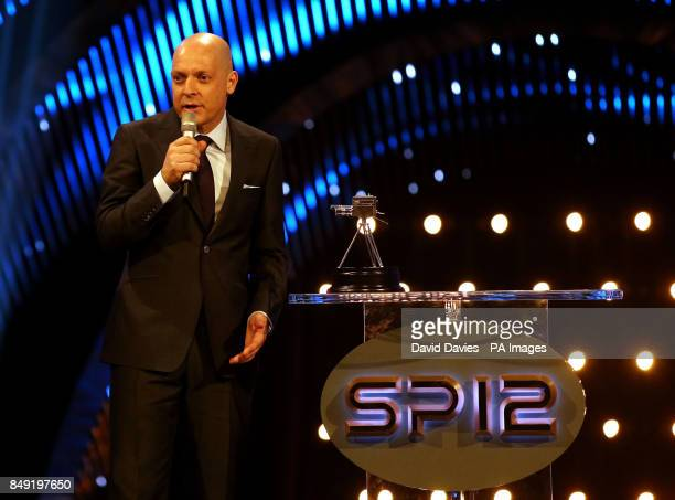 David Brailsford speaks during the BBC Sports Personality of the Year Awards 2012 at ExCeL London