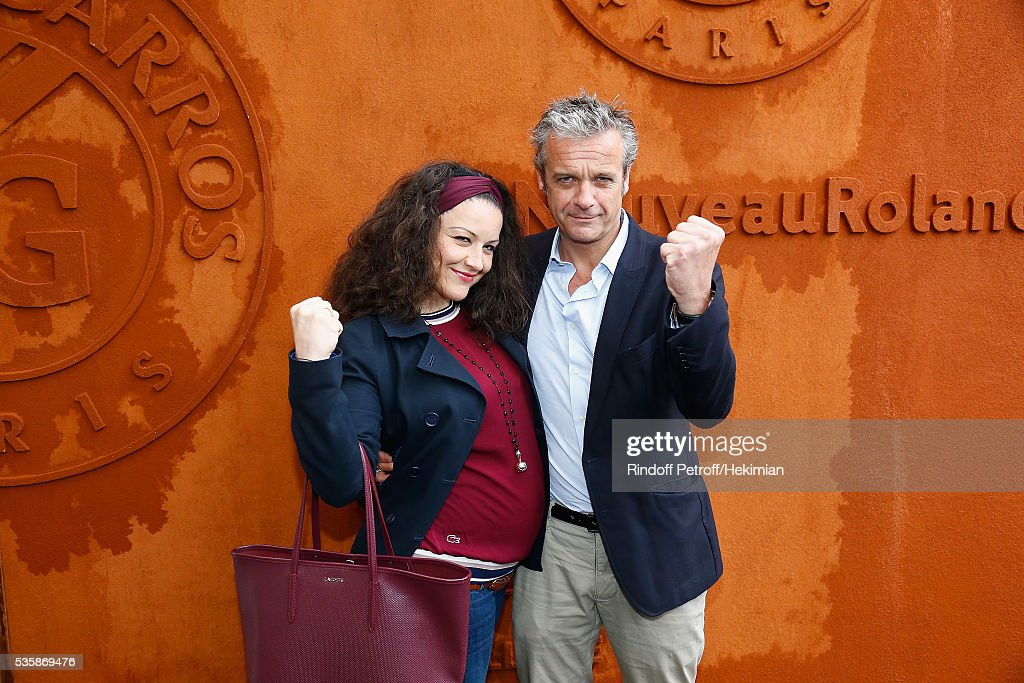 David Brecourt and his wife Alexandra attend the French Tennis Open Day Nine at Roland Garros on May 30, 2016 in Paris, France.