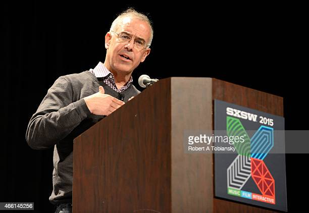 David Brooks OpEd Columnist for The New York Times speaks onstage during 'The Road To Character' during the 2015 SXSW Music Film Interactive Festival...