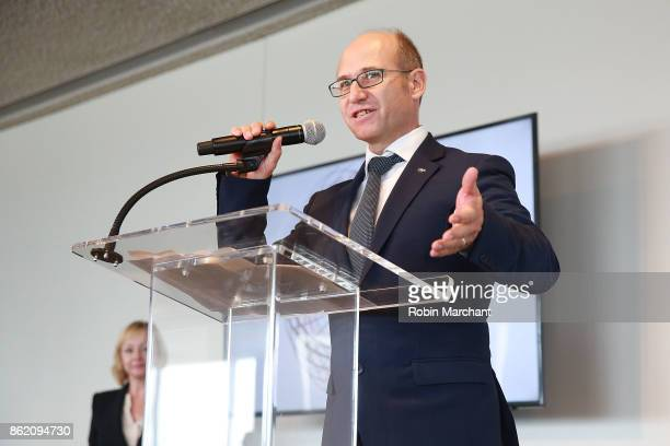 David Brussa attends Ernesto Illy International Coffee Award Ceremony at United Nations on October 16 2017 in New York City
