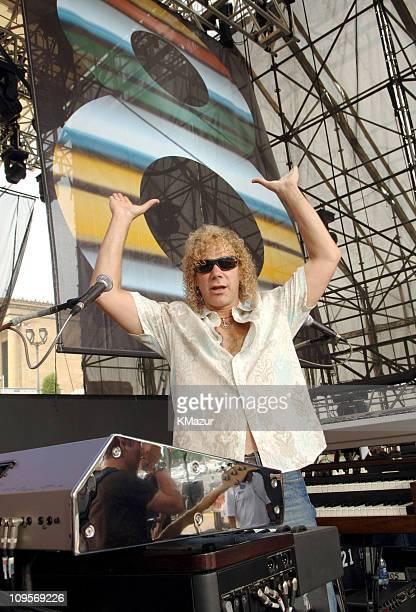 David Bryan of Bon Jovi during LIVE 8 Philadelphia Rehearsals at Philadelphia Museum of Art in Philadelphia Pennsylvania United States