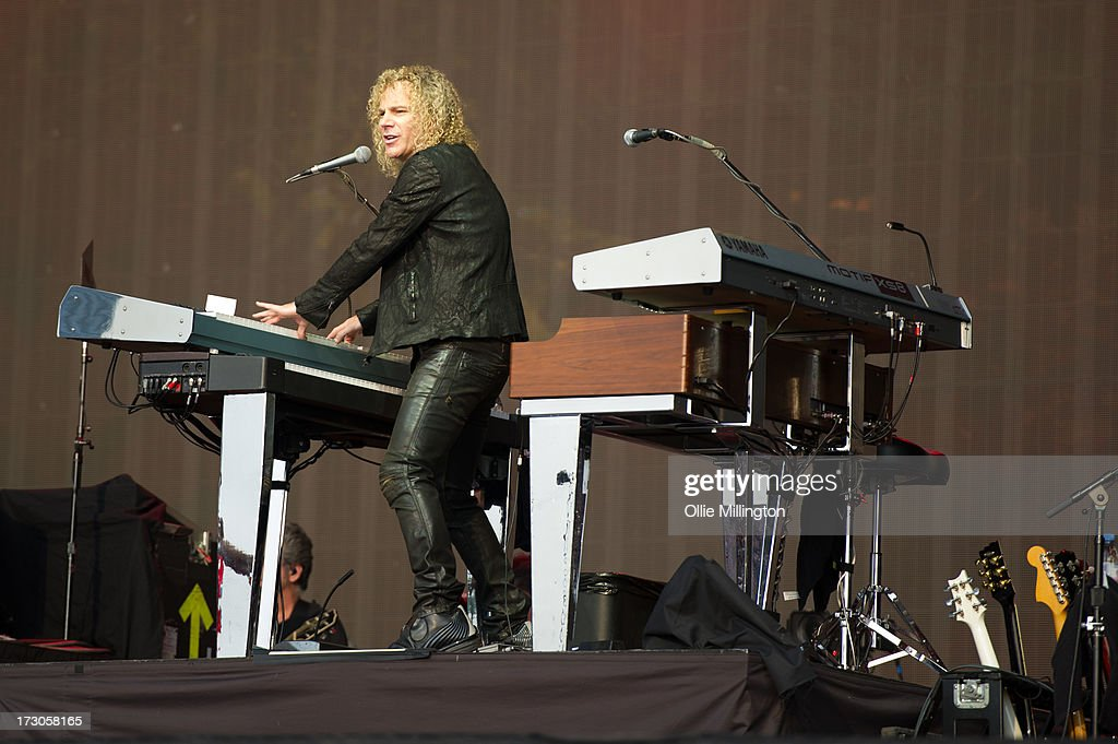<a gi-track='captionPersonalityLinkClicked' href=/galleries/search?phrase=David+Bryan&family=editorial&specificpeople=211281 ng-click='$event.stopPropagation()'>David Bryan</a> of of Bon Jovi performs on stage at British Summer Time Festival at Hyde Park on July 5, 2013 in London, England.