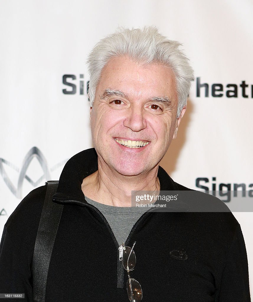 David Bryne attends the 'Old Hats' Opening Night at Signature Theatre Company's The Pershing Square Signature Center on March 4, 2013 in New York City.