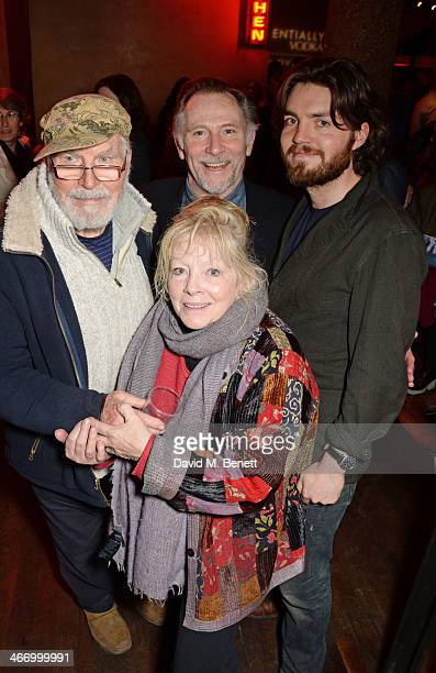 David Burke Anna CalderMarshall Danny Webb and Tom Burke attend the press night performance of 'The Mistress Contract' with Quintessentially Vodka at...