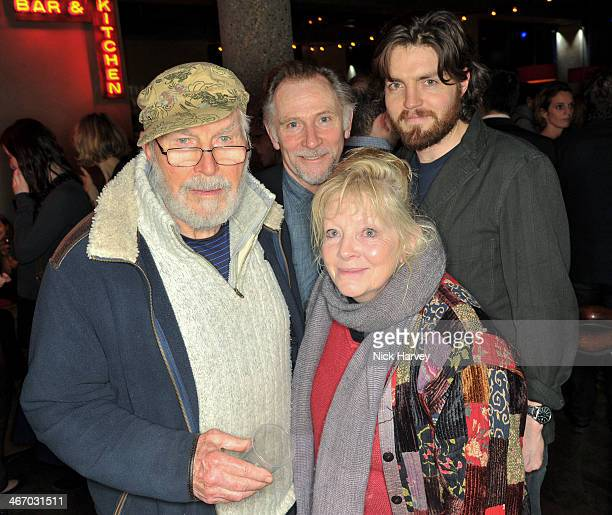 David Burke Anna CalderMarshall Danny Webb and Tom Burke attend the press night for 'The Mistress Contract' at Royal Court Theatre with...