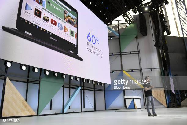David Burke vice president of Android engineering for Google Inc speaks during the Google I/O Annual Developers Conference in Mountain View...