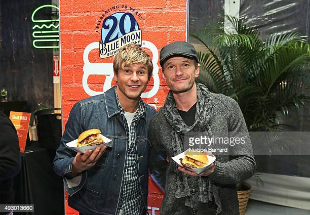 David Burtka and actor Neil Patrick Harris attend the Blue Moon Burger Bash presented by Pat LaFrieda Meats hosted by Rachael Ray Food Network...