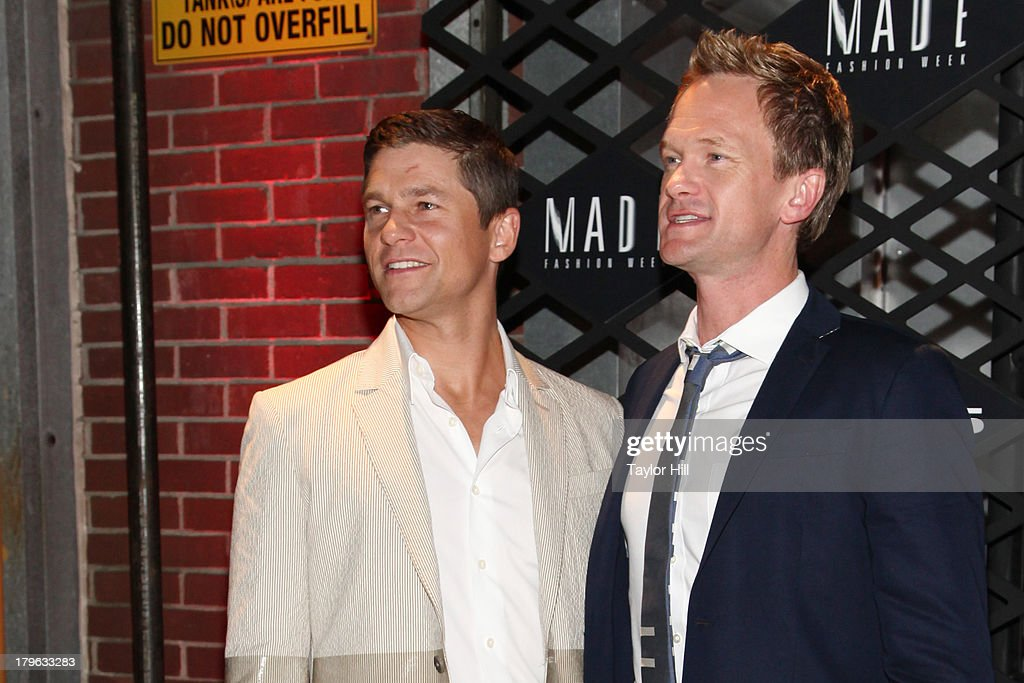 <a gi-track='captionPersonalityLinkClicked' href=/galleries/search?phrase=David+Burtka&family=editorial&specificpeople=572242 ng-click='$event.stopPropagation()'>David Burtka</a> and <a gi-track='captionPersonalityLinkClicked' href=/galleries/search?phrase=Neil+Patrick+Harris&family=editorial&specificpeople=210509 ng-click='$event.stopPropagation()'>Neil Patrick Harris</a> attend the Lexus Design Disrupted Fashion Event at SIR Stage 37 on September 5, 2013 in New York City.