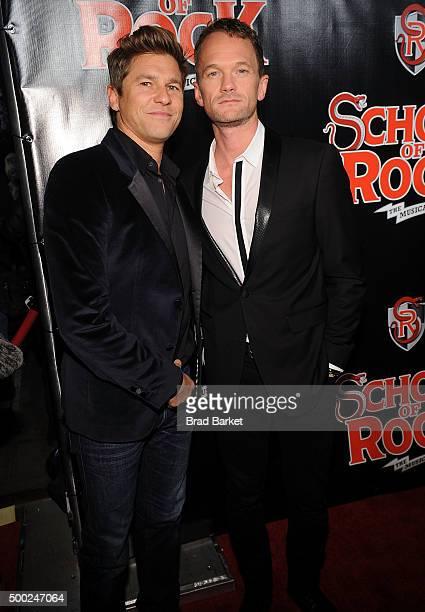 David Burtka and Neil Patrick Harris attend the 'School Of Rock' Broadway opening night at Winter Garden Theatre on December 6 2015 in New York City