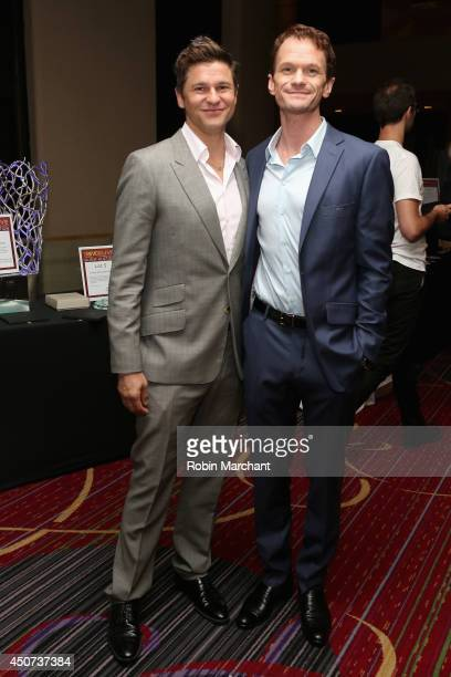 David Burtka and Neil Patrick Harris attend the Trevor Project's 2014 'TrevorLIVE NY' Event at the Marriott Marquis Hotel on June 16 2014 in New York...
