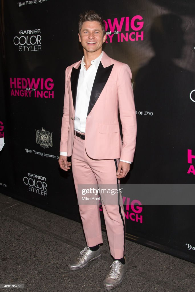 <a gi-track='captionPersonalityLinkClicked' href=/galleries/search?phrase=David+Burtka&family=editorial&specificpeople=572242 ng-click='$event.stopPropagation()'>David Burtka</a> attends the Broadway opening night of 'Hedwig And The Angry Inch' at the Belasco Theatre on April 22, 2014 in New York City.