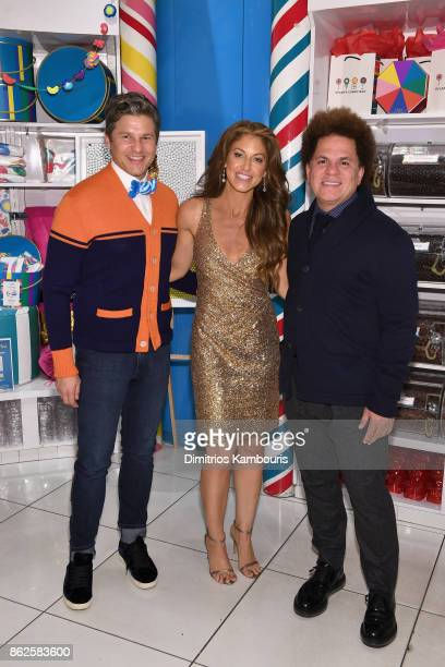 David Burtka Dylan Lauren and Romero Britto celebrate the Sweet 16 of Dylan's Candy Bar on October 17 2017 in New York City