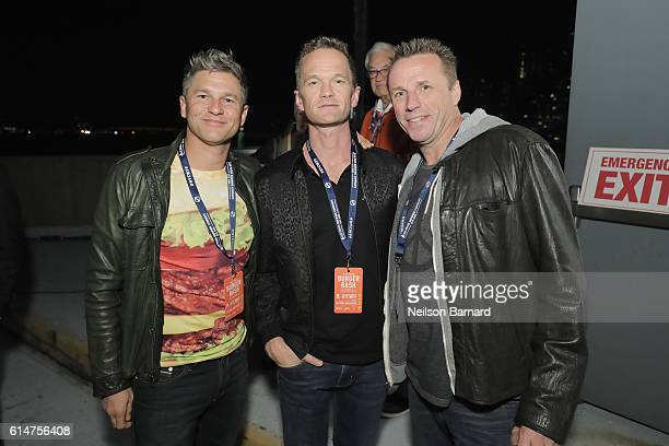 David Burtka Neil Patrick Harris and Chef Marc Murphy judge the Blue Moon Burger Bash presented by Pat LaFrieda Meats hosted by Rachael Ray at the...