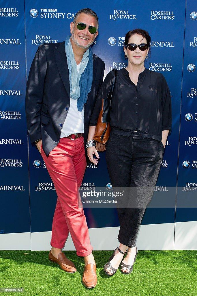 David Bush and Kirstie Clements at the BMW Sydney Carnival launch at Centennial Park on March 12, 2013 in Sydney, Australia.