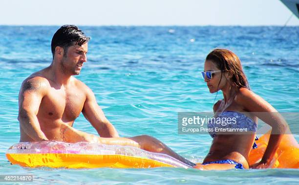 David Bustamante and Paula Echevarria are seen on July 15 2014 in Ibiza Spain