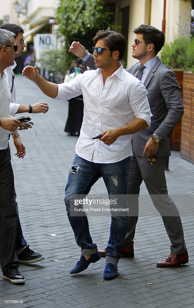 David Bustamante Sighting In Madrid - June 26, 2013