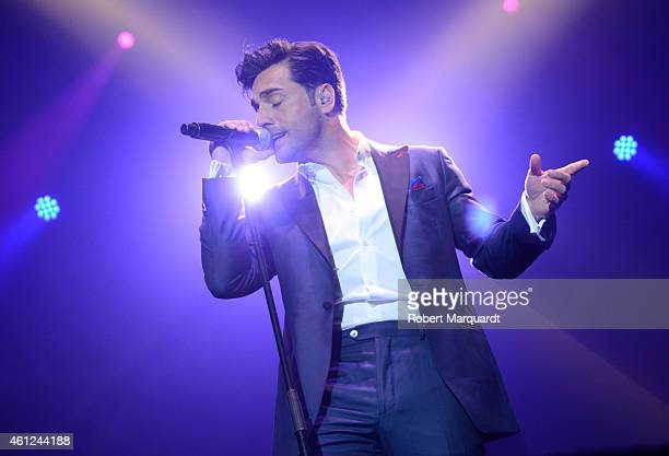 David Bustamante performs in concert at the 'Barcelona Teatre Musical' on January 9 2015 in Barcelona Spain