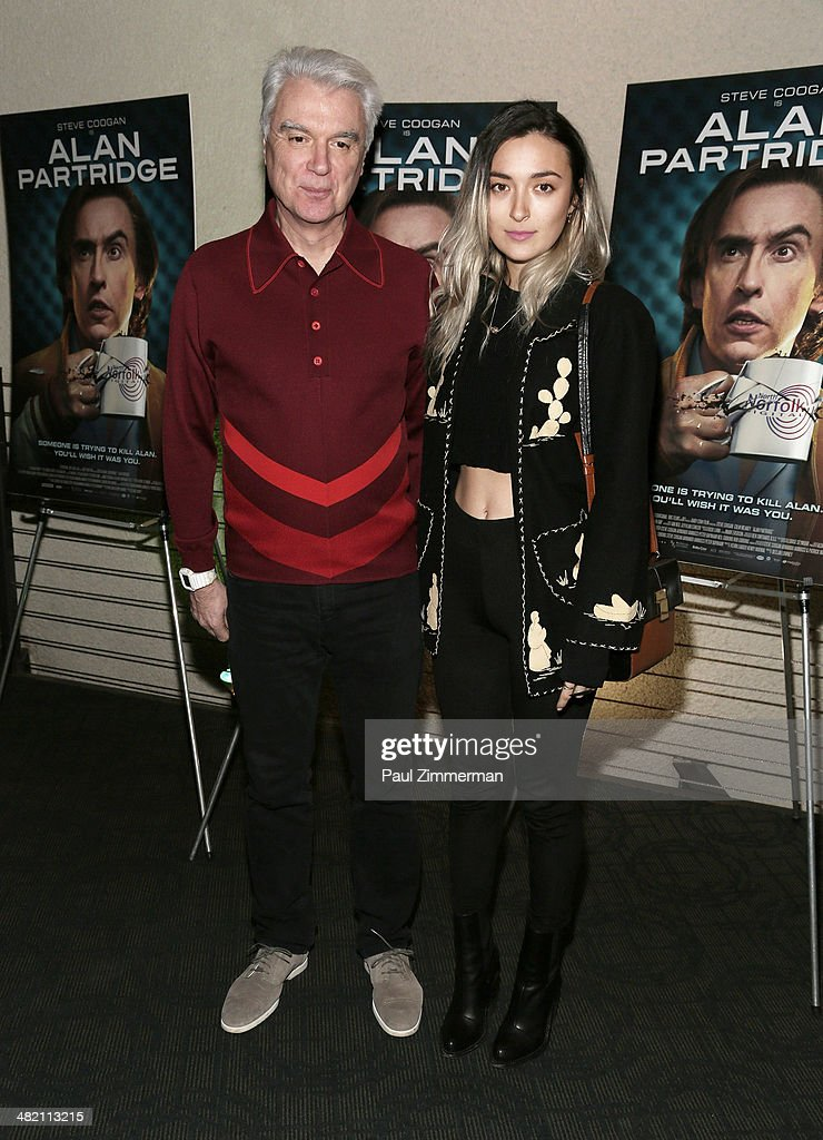 <a gi-track='captionPersonalityLinkClicked' href=/galleries/search?phrase=David+Byrne&family=editorial&specificpeople=210852 ng-click='$event.stopPropagation()'>David Byrne</a> (L) and daughter Malu Abeni Valentine Byrne attend the 'Alan Partridge' New York screening at Landmark's Sunshine Cinema on April 2, 2014 in New York City.