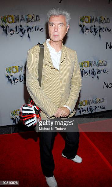 David Byrne attends an exhibition hosted by Notify at The Museum of Modern Art on September 15 2009 in New York City