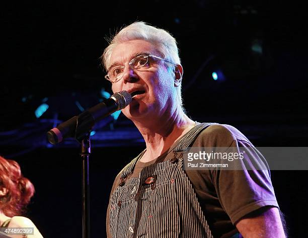 David Byrne attends Artists' Pay For Radio Play at Le Poisson Rouge on February 25 2014 in New York City