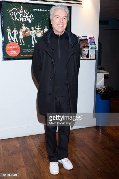 David Byrne attends the premiere of his new concert film 'David Byrne Ride Rise Roar' at Ritzy Brixton on January 20 2011 in London England