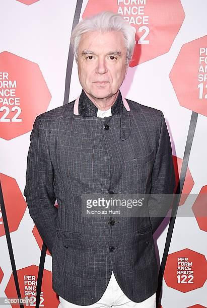 David Byrne attends the PS122's Spring Gala 2016 at Jing Fong Restaurant on April 28 2016 in New York City