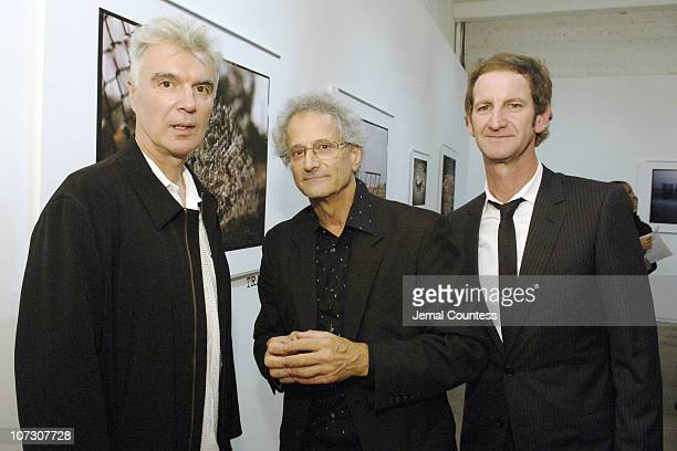 David Byrne David Burnett and Mark Seliger during 401 Projects Presents TRACES Katrina Photos by David Burnett Hosted by Susan Sarandon Drinks...