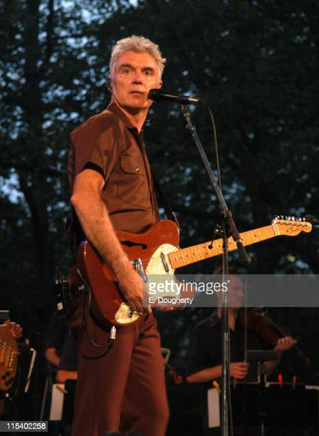 David Byrne during David Byrne in Concert at the Central Park Summer Stage June 29 2005 at Central Park in New York City New York United States