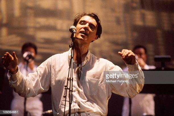 David Byrne Latin Band performs on stage 1990
