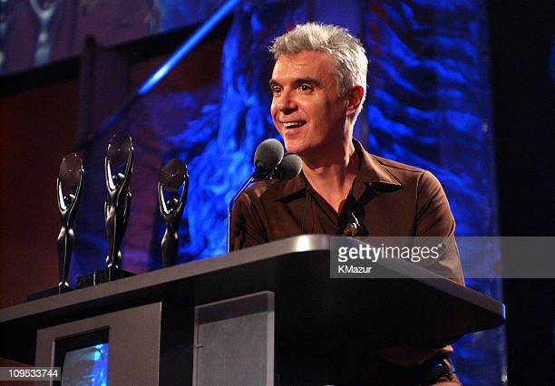 David Byrne of Talking Heads during The 17th Annual Rock and Roll Hall of Fame Induction Ceremony Show at WaldorfAstoria in New York New York United...
