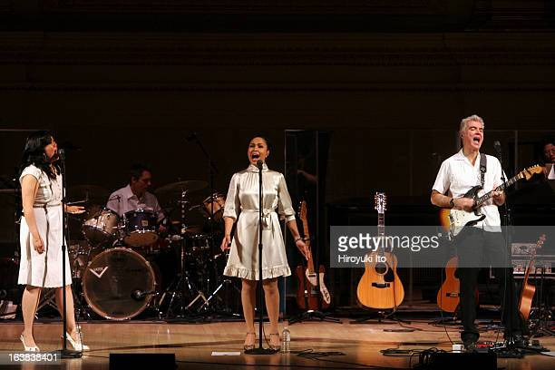David Byrne performing 'Here Lies Love' a song cycle about the life of Imelda Marcos at Carnegie Hall on Saturday night February 3 2007This...