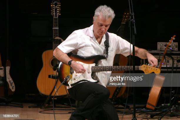 David Byrne performing 'Here Lies Love' a song cycle about the life of Imelda Marcos at Carnegie Hall on Saturday night February 3 2007