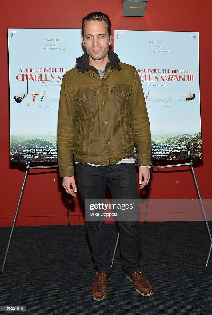 David Call attends a screening of 'A Glimpse Inside The Mind Of Charles Swan III' at Landmark Sunshine Cinema on January 9, 2013 in New York City.