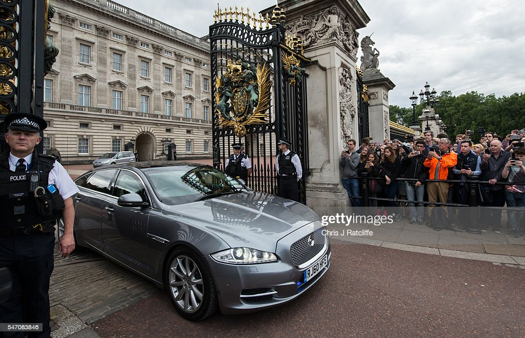David Cameron leaves Buckingham Palace after meeting with Queen Elizabeth II on July 13, 2016 in London, England. David Cameron leaves Downing Street today having been Prime Minister of the United Kingdom since May 2010 and Leader of the Conservative Party since December 2005. He is succeeded by former Home Secretary Theresa May and will remain as Member of Parliament for Witney in Oxfordshire.