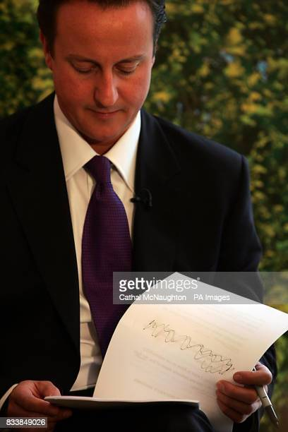David Cameron prepares to deliver a speech about the need to 'make British poverty history' and reform the welfare system at Chance UK Finsbury Park...