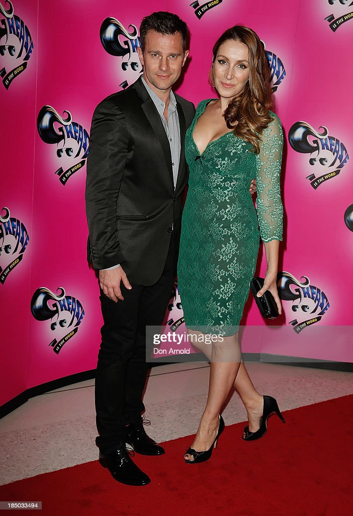 David Campbell and Lisa Hewitt arrive at the Sydney Premiere of GREASE at The Star on October 17, 2013 in Sydney, Australia.