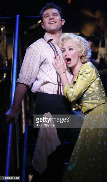 David Campbell and Lisa McCune during 'Urinetown' Media Call June 15 2006 at Sydney Theatre Company in Sydney NSW Australia