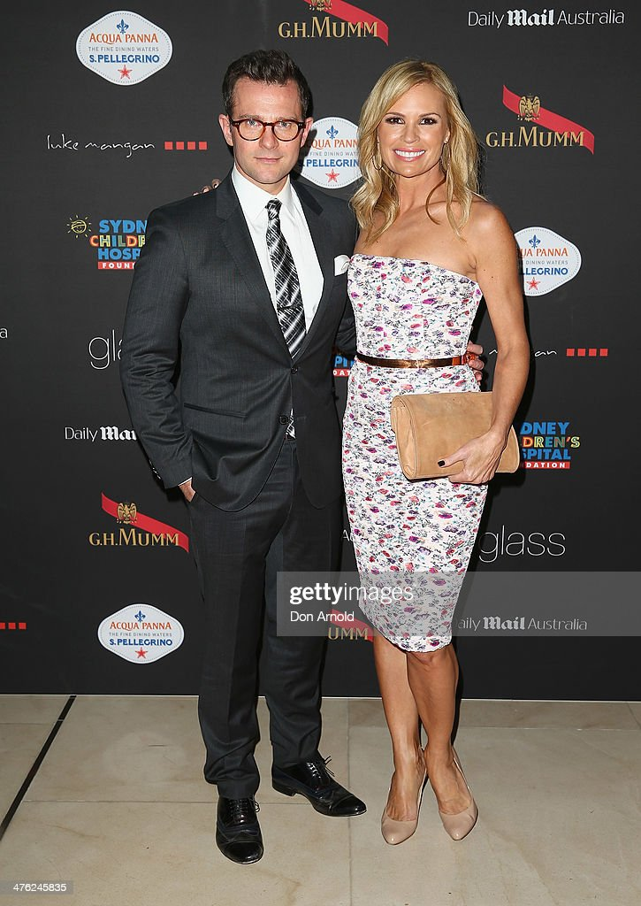 David Campbell and Sonia Kruger attend the 86th Academy Awards Charity Event at the Hilton Hotel on March 3, 2014 in Sydney, Australia.