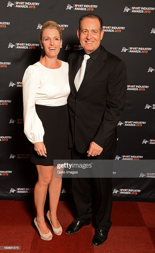 <a gi-track='captionPersonalityLinkClicked' href=/galleries/search?phrase=David+Campese&family=editorial&specificpeople=228135 ng-click='$event.stopPropagation()'>David Campese</a> and wife Lara attend the Virgin Active Sport Industry Awards 2013 held at Emperors Palace on February 07, 2013 in Johannesburg, South Africa.