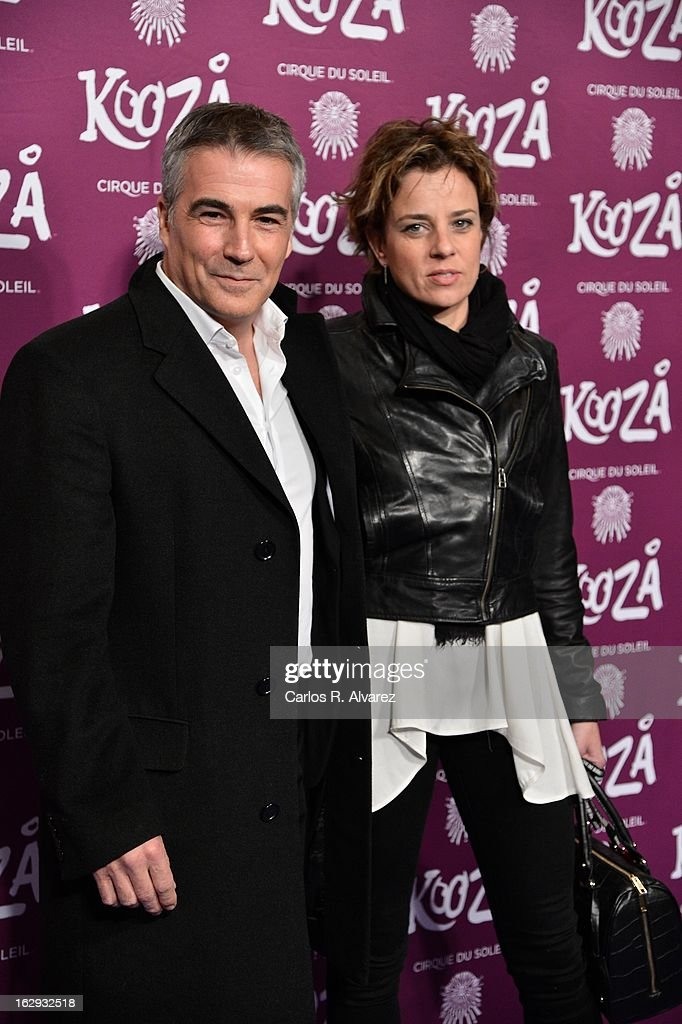 David Cantero (L) attends 'Cirque Du Soleil' Kooza 2013 premiere on March 1, 2013 in Madrid, Spain.