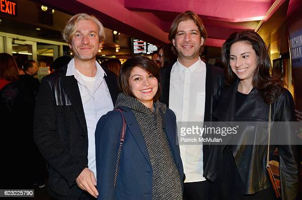 David Caputo Assal Ghawami Steve Caputo and Emily Daniels attend the DOC NYC Premiere 'The Incomparable Rose Hartman' at IFC Center on November 13...