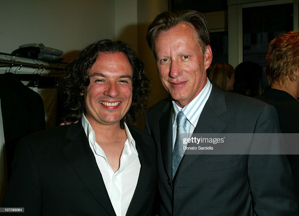 David Cardona and James Woods during Cerruti and David Cardona Co-Host Private Party to Celebrate the Opening of Cerruti Beverly Hills Benefiting OPCC at Cerruti Store in Beverly Hills, California, United States.