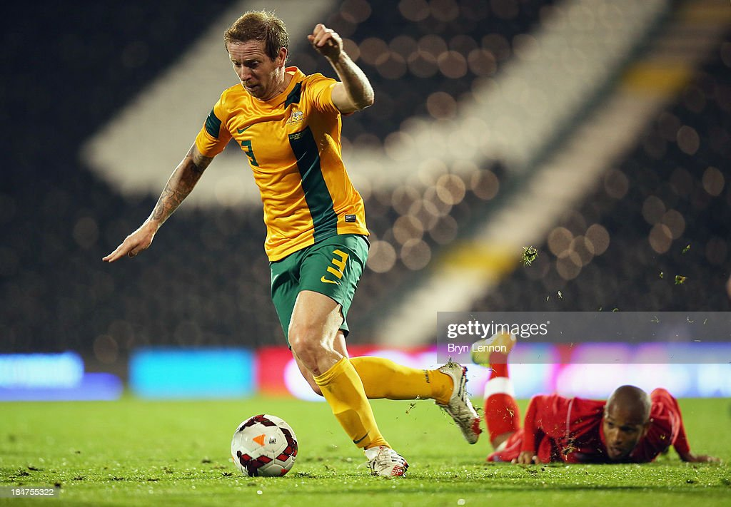 David Carney of Australia in action during the International Friendly between Canada and Australia at Craven Cottage on October 15, 2013 in London, England.
