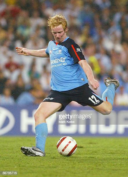 David Carney of Sydney FC in action during the round 21 ALeague match between Sydney FC and Adelaide United at Aussie Stadium February 03 2006 in...