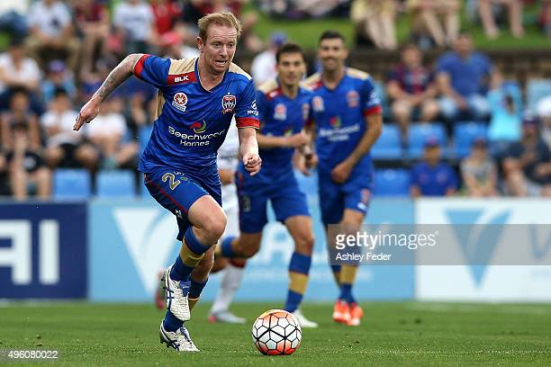 David Carney of the Jets in action during the round five ALeague match between the Newcastle Jets and the Western Sydney Wanderers at Hunter Stadium...